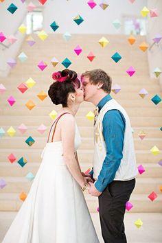 Geometric wedding backdrop | Unique Wedding Backdrop Ideas - Part 1