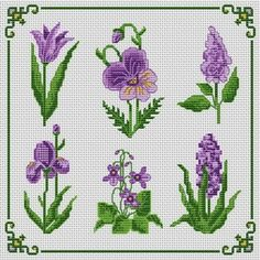 Cicek Tiny Cross Stitch, Free Cross Stitch Charts, Cross Stitch Borders, Simple Cross Stitch, Cross Stitch Flowers, Cross Stitch Designs, Cross Stitching, Cross Stitch Embroidery, Embroidery Patterns