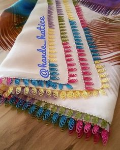 Ad # iğneoya the # needle # tigoya the # Sift # göznur the # point # groom # Dukes # dowry Hand Embroidery Dress, Flower Embroidery Designs, Lace Patterns, Crochet Patterns, Crochet Ideas, Saree Tassels, Advertising And Promotion, Wedding Preparation, Bargello