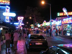 'The Strip', Albufeira, Portugal Portugal Places To Visit, Places To See, Places Ive Been, Albufeira Portugal, Portugal Holidays, Travel 2017, Romantic Night, What A Wonderful World, Great Memories