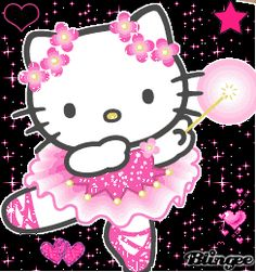 Pink Glitter Graphic Hello Kitty | hello kitty Picture #95282088 | Blingee.com