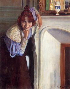 Santiago Rusiñol y Prats (Spanish, 1861-1931). La risueña (Retrato de Suzanne Valadon), 1894