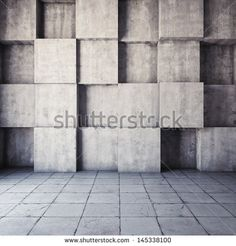 Abstract geometric background of the concrete - stock photo