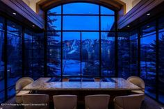 Aspen estate - this view makes you love the look of snow.