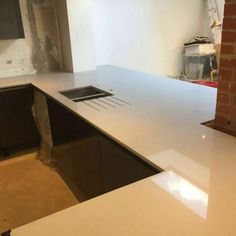 Bianco Puro - Urban Quartz - Rock and Co Granite Ltd Quartz Rock, White Quartz, Pure White, Granite, Corner Desk, Urban, Pure Products, Furniture, Home Decor