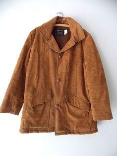 Ending Today!! Southwestern Jacket Size Large Work Vintage 70s Costume Suede Ranch Lumberjack #Vanderbilt #BasicJacket