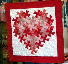 Valentine Lil Twister Quilt using my pattern at Freemotion by the River