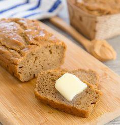 Flourless Peanut Butter Bread 5 ingredients.  | Kirbie's Cravings | A San Diego food & travel blog