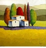 """Sveta Esser Hand Signed and Numbered Limited Edition Giclee on Canvas: """"Mountain Retreat"""""""