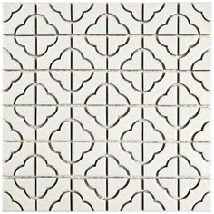 Found it at AllModern - Castle 11.75'' x 11.75'' Porcelain Mosaic Tile in White