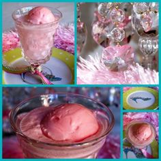 Pretty Pink Punch.  To make this party favorite, add 1/2 gallon ice cream or sherbet by scoopfuls to a punch bowl and pour 2 liters of clear soda over. Stir gently and serve. Or make pretty floats for a fizzy taste of fancy anytime! For this party we paired strawberry ice cream and Diet 7-Up, but I have also used sherbet and ginger ale with delicious results.