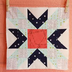 One Double-Star Block for our Queen Bee Melanie!!! I hope you love it!! Your colors are very catching and they were pleasant to work with!!! I will be shipping out soon!! @southerncharmquilts #beehiveswarmMara #beehivequilts #doublestarblock