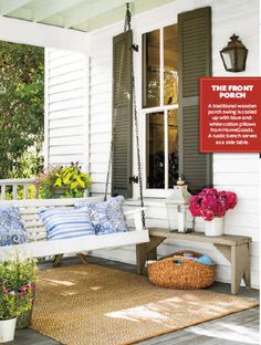 Front Porch idea Southern Living - May 2015  USA