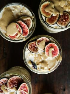 Maple + Fig + Tahini Overnight Oats — Probably This Healthy Meals For Two, Healthy Dinner Recipes, Diet Recipes, Vegan Recipes, Healthy Eating, Diet Breakfast, Breakfast Recipes, Breakfast Ideas, Overnight Oats
