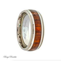 Trending Wood Inlay Ring Titanium Ring Mens Titanium Ring Wedding Bands Wedding Rings Wood Ring Mens Ring Engagement Rings Mens Titanium Ring Mens titanium