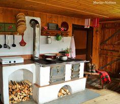 Modern Home Decor Kitchen Home Decor Kitchen, Home Kitchens, Kitchen Design, Rustic Outdoor Spaces, Wood Panneling, Wood Backsplash, Wood Pergola, Tiny House Cabin, Kitchen Stove