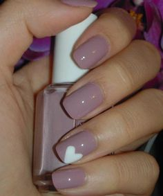 Beautiful Lavender Love Nail Art Designs