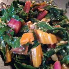 Sauteed Swiss Chard with Parmesan Cheese - This was delicious, made it apple cider vinegar instead of lemon and wine