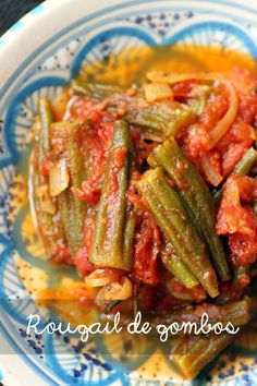 Rougail de Gombos / Spicy Okra in Tomato Sauce Spicy Recipes, Cooking Recipes, Healthy Recipes, Mauritian Food, Okra And Tomatoes, Salty Foods, Creative Food, Food Hacks, Clean Eating