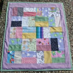 Scrap quilt.  As you can tell, I have a lot of scraps.  Wish I had more big pieces of fabric.