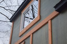 Rear dormer of our Millerwurst tiny house!