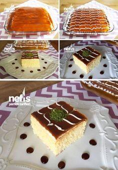 Trileçe Tarifi (Tam Kıvamında) nasıl yapılır? 8.837 kişinin defterindeki bu tarifin resimli anlatımı ve deneyenlerin fotoğrafları burada. Yazar: Yasemin Atalar Easy Cake Recipes, Sweet Recipes, Vegan Recipes, Cooking Recipes, Tri Lece, Food Platters, Turkish Recipes, Cake Cookies, Delicious Desserts