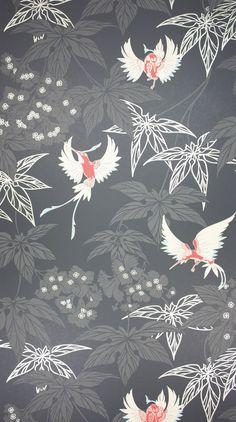 An exotically coloured hummingbird darting between foliage, named after the tropical bird garden outside Kells in County Meath. - Osborne & Little wallpaper - Available in 7 colorways - Washable Sold