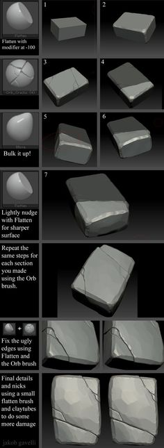 Brick Tutorial, Jakob Gavelli on ArtStation at https://www.artstation.com/artwork/brick-tutorial