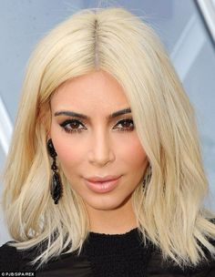 Kim Kardashian, 34, dyed her hair peroxide blonde for a short period of time this year...