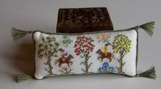 Tudor Dollhouse Pillow Miniature Medieval by WhimsyWooMiniatures