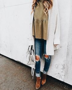 Fall outfit trends for changing of the seasons women outfit Casual Outfits, Cute Outfits, Fashion Outfits, Womens Fashion, Fashion Trends, Casual Wear, Fashion Hacks, Fashion 2016, Ladies Fashion