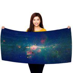 """Downtown Milky Way 30"""" x 60"""" Microfiber Beach Towel"""