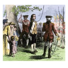 Nathan Hale Hanged by the British as a Spy, 1776 Giclee Print