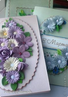 : A lot of different cards Quilling Paper Craft, Quilling Cards, Paper Crafts, 3d Paper Flowers, Quilling Flowers, Flower Cards, Xmas, Blog, Patterns