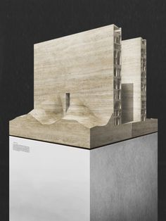 """Image 2 of 18 from gallery of """"Inhabiting the Desert"""" Since Morocco at the 2014 Venice Biennale. Courtesy of BAO + Ultra Architettura Maquette Architecture, Concrete Architecture, Architecture Portfolio, Architecture Design, Architecture Models, Monumental Architecture, Architecture Mapping, Architecture Diagrams, Conceptual Sketches"""