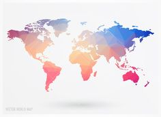30 high quality free world map templates template polygonal world map gumiabroncs Images