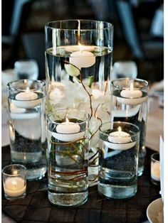 Candle twig centerpiece