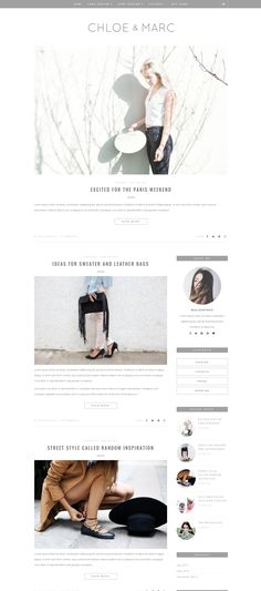 ♥ Chloé & Marc is a clean and minimalist Wordpress theme that allows your reader to focus on your content. The beauty of this theme is its simplicity. It's suitable for a lot of purpose. Lifestyle, fashion, travel, photography and decor style is included in theme.