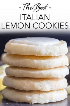 Lemon Desserts, Lemon Recipes, Cookie Desserts, Just Desserts, Sweet Recipes, Baking Recipes, Cookie Recipes, Delicious Desserts, Dessert Recipes