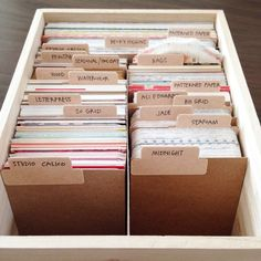 Project Life card organization by nicolereaves at @studio_calico