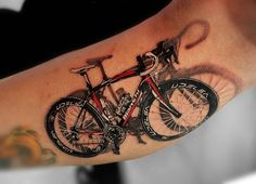 3d Realistic Bicycle With Shadow Effect Realistic Cycle Tattoo