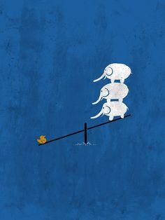 """No balance"" Art Print by BarmalisiRTB on Society6."