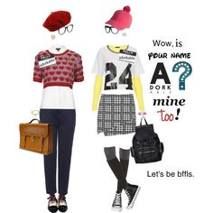 Hello My Name Is Adorkable by justagirlfrommo on Polyvore featuring мода, Topshop, SPANX, Converse, Hello Kitty, Mondevio, Blue Nile, Swarovski, Larke and Gucci