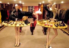 Wouldn't this be a fun shoe department display for a resale or consignment shop! Oh, if only, says TGtbT.com, we had the room to spare (and the mannequins :) )