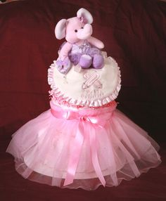 Ballerina Diaper Cake....TOO MUCH CUTE stuff on this page to pin.