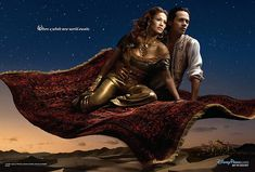 Jennifer Lopez as Jasmine and Marc Anthony as Aladdin