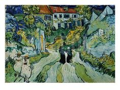 Stairway At Auvers Giclee Print By Vincent Van Gogh Art