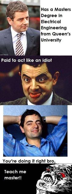 Funny mr bean meme hilarious pinterest mr bean meme and beans like a boss pt 2 solutioingenieria Images