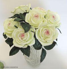 Букет роз из фоамирана.