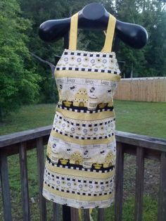 Bee Happy Apron made by Fried Green Aprons